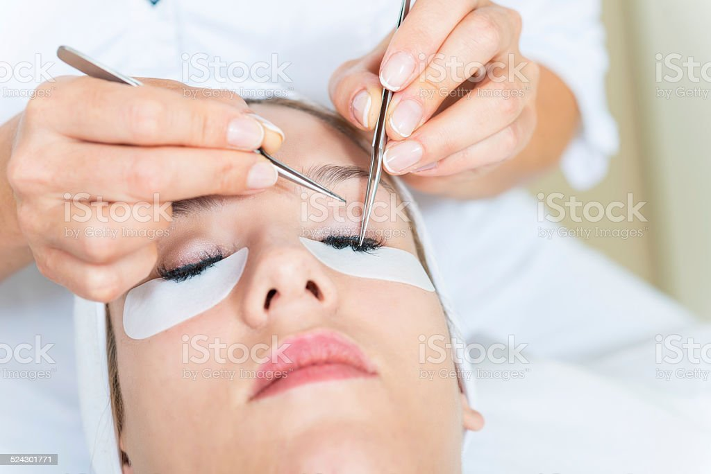 Eyelash Extensions stock photo