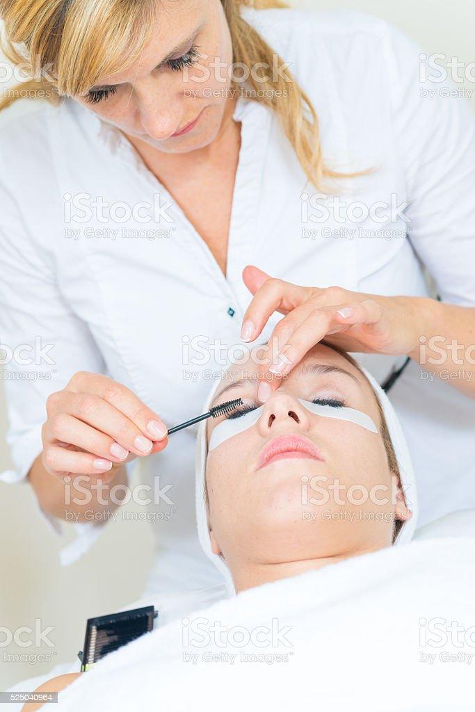 Eyelash Extensions stock photo