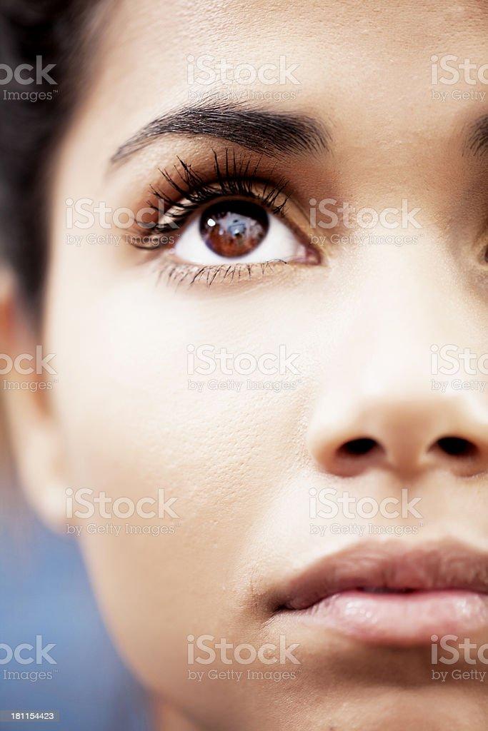 Eyelash Make up royalty-free stock photo