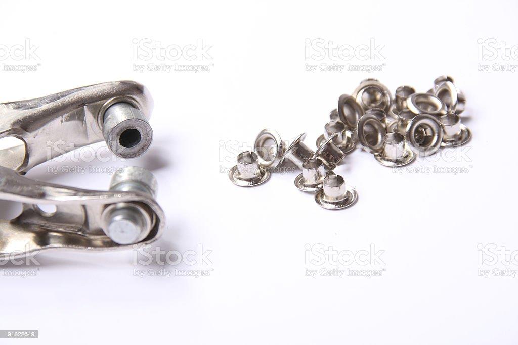 eyelet tool stock photo