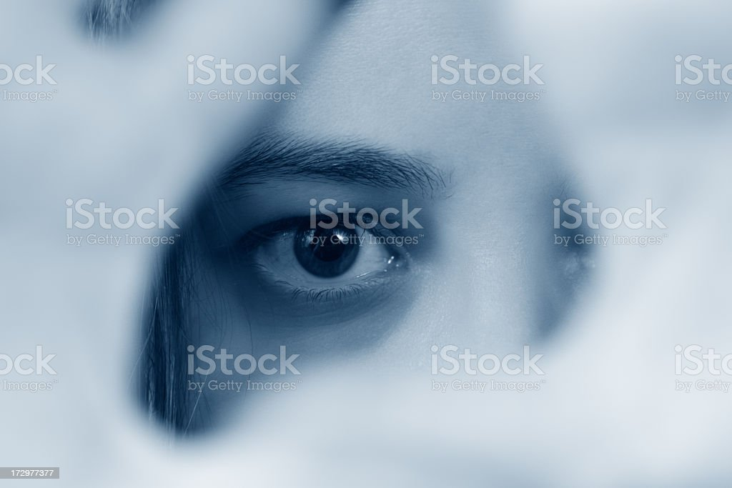 Eyes and Hands royalty-free stock photo
