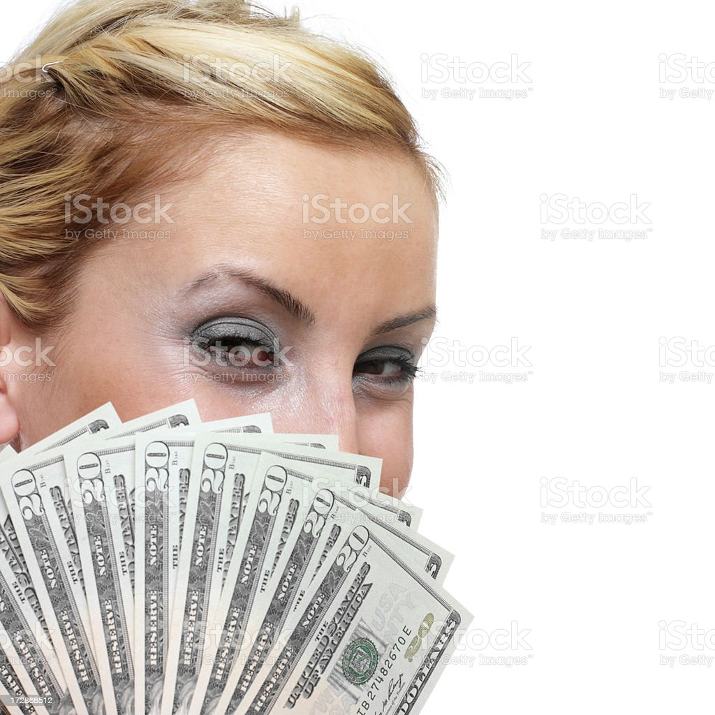 Eyes and Money royalty-free stock photo