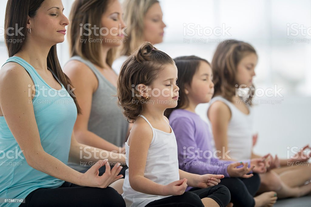 Eyes Closed During a Meditation stock photo