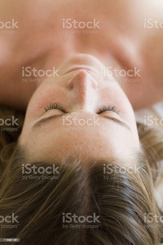 Eyes Closed stock photo