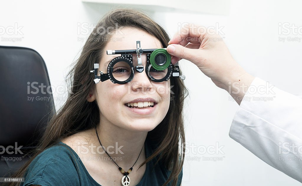 Eyes Exam stock photo