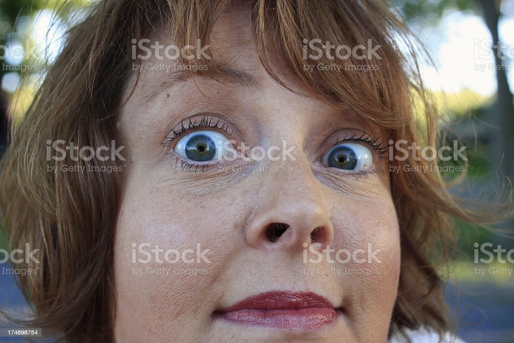 Eyes of a woman royalty-free stock photo