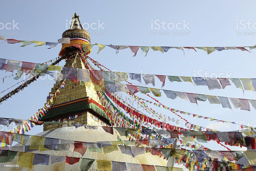 Eyes Of Buddha royalty-free stock photo