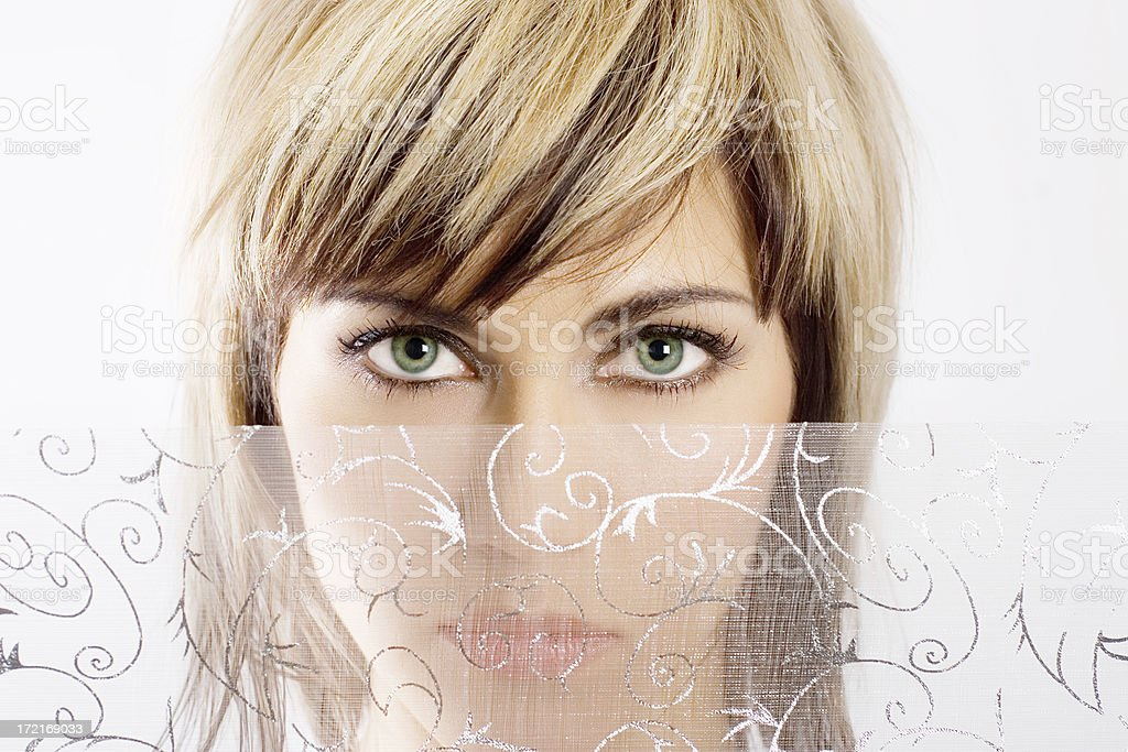 eyes of woman royalty-free stock photo