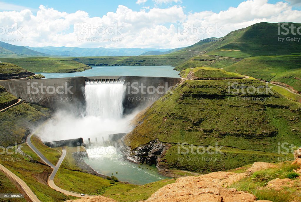 Katse Dam stock photo