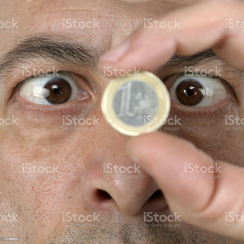 Eyes on Money series royalty-free stock photo