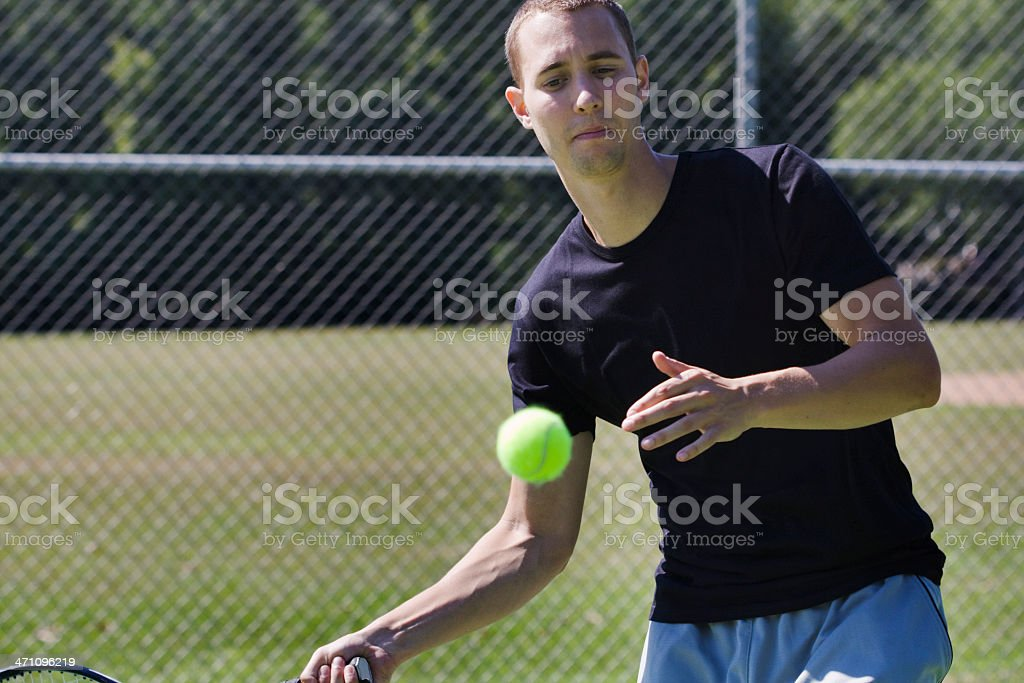 Eyes on the Ball royalty-free stock photo