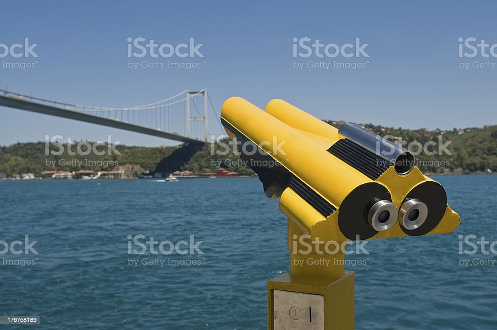 Eyes on the bridge royalty-free stock photo