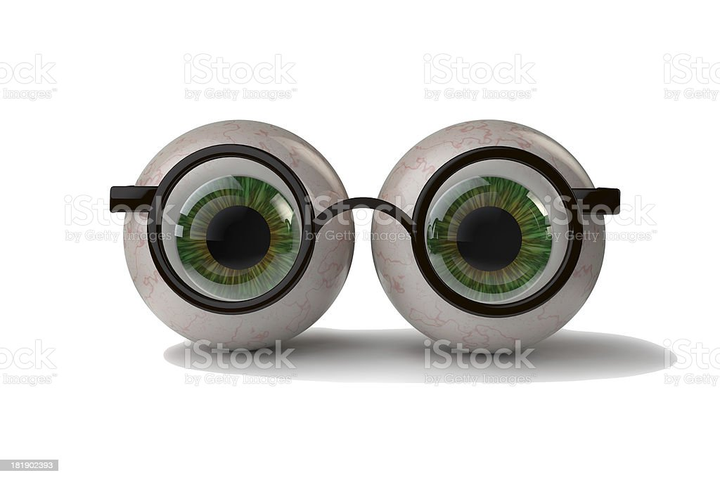 Eyes with glasses royalty-free stock photo