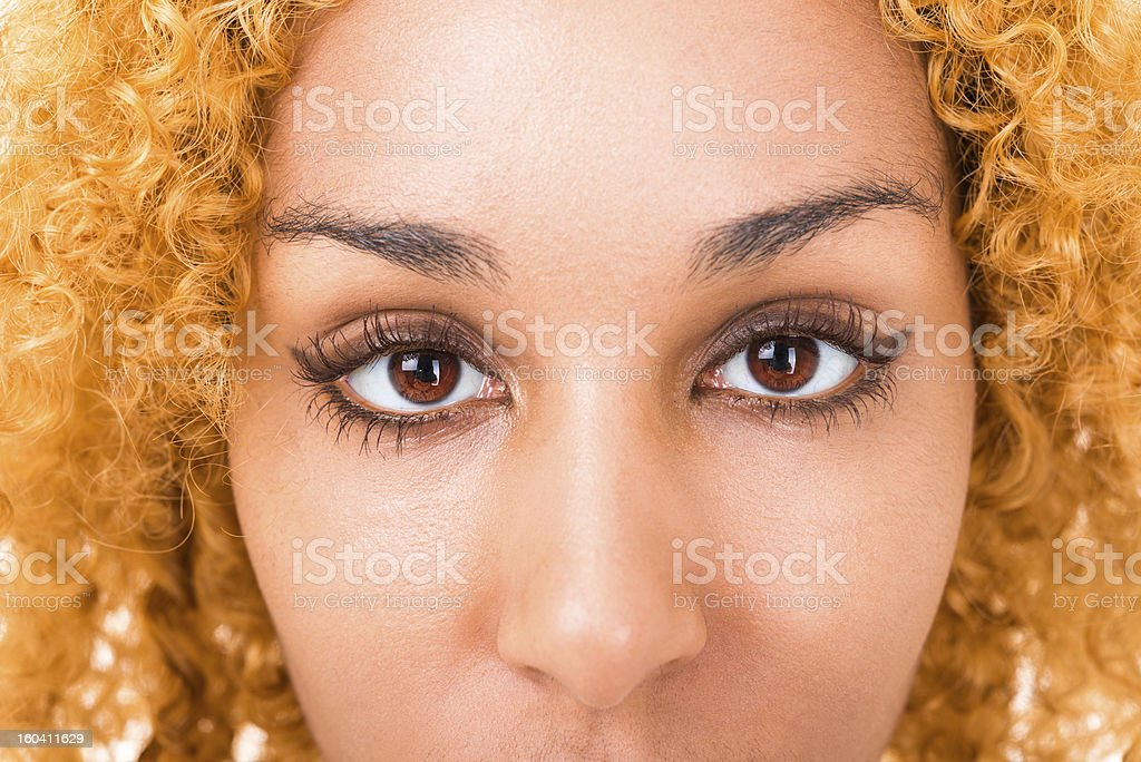 eyes young woman close up royalty-free stock photo