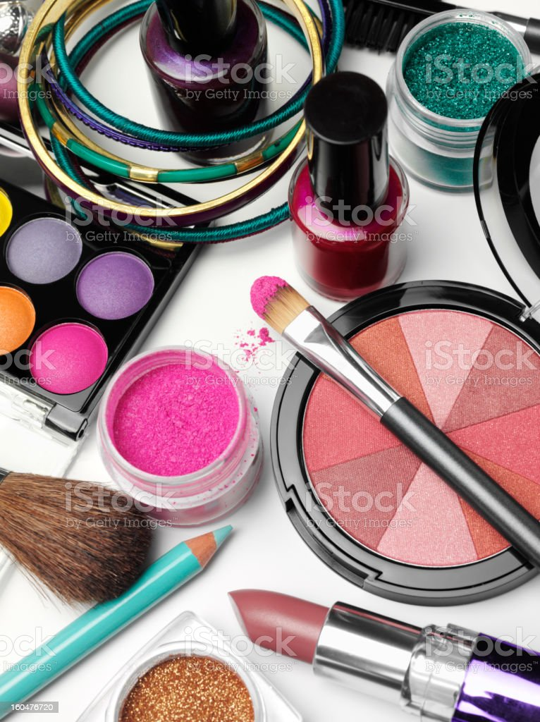 Eyeshadow and Cosmetics royalty-free stock photo