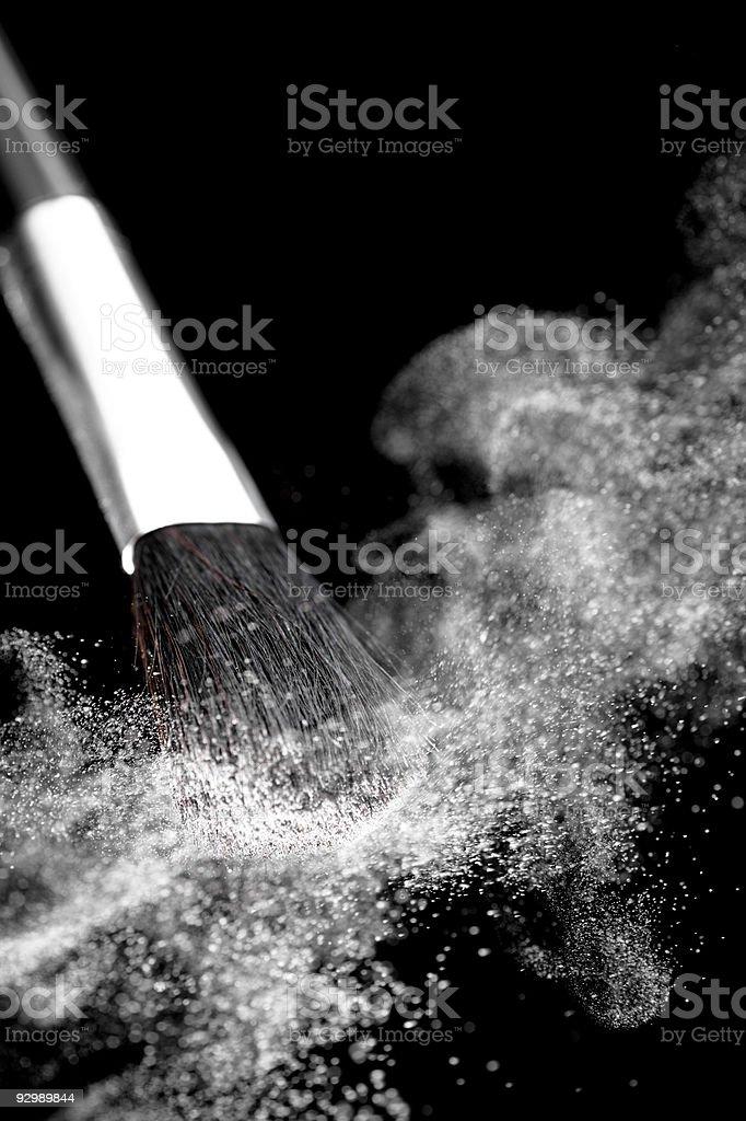 Eyeshadow and Make-Up Brush royalty-free stock photo