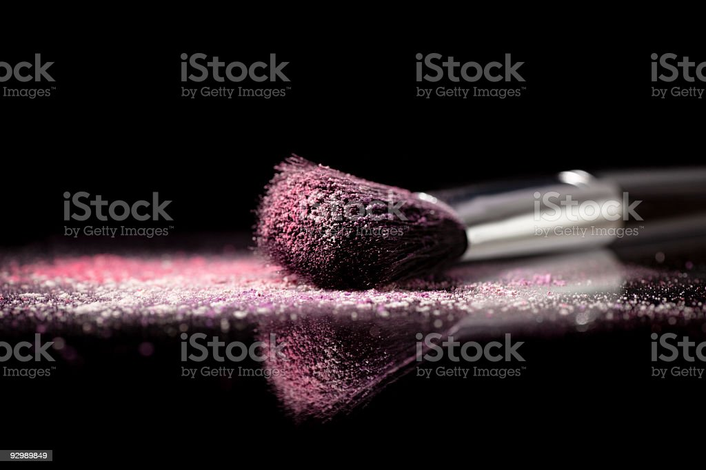 Eyeshadow and Make-Up Brush royalty-free stock photo