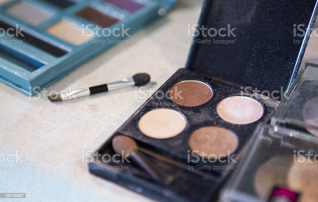 Eyeshadow compact royalty-free stock photo