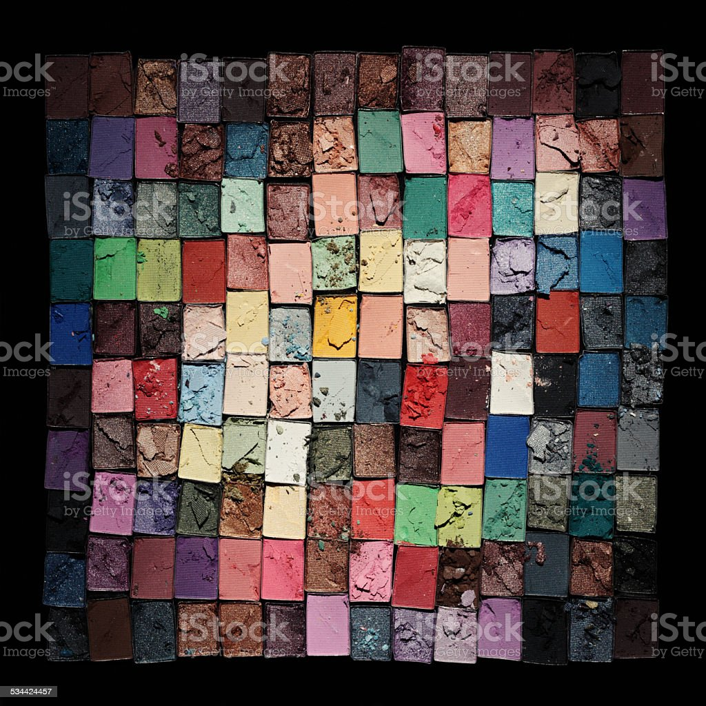 eyeshadow kit stock photo