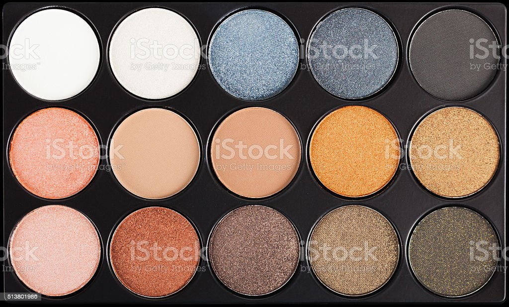Eyeshadow Palette closeup stock photo