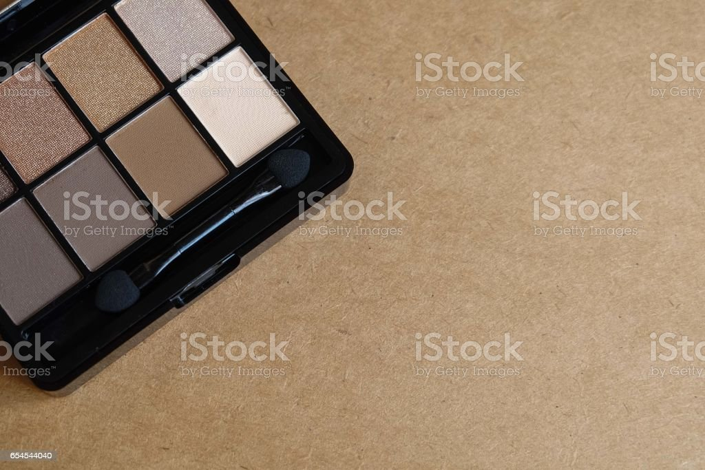 eyeshadow palette ,make up set with space stock photo