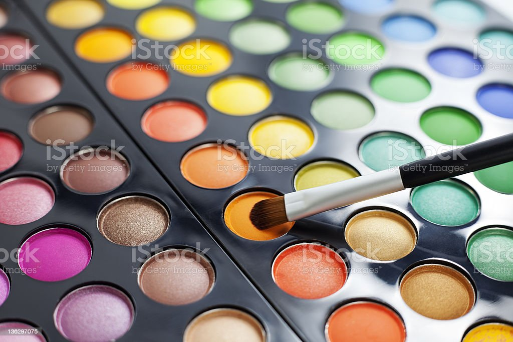 Eyeshadow palette. royalty-free stock photo