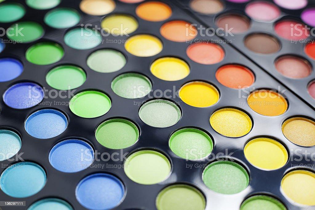 Eyeshadow palette. royalty-free stock photo
