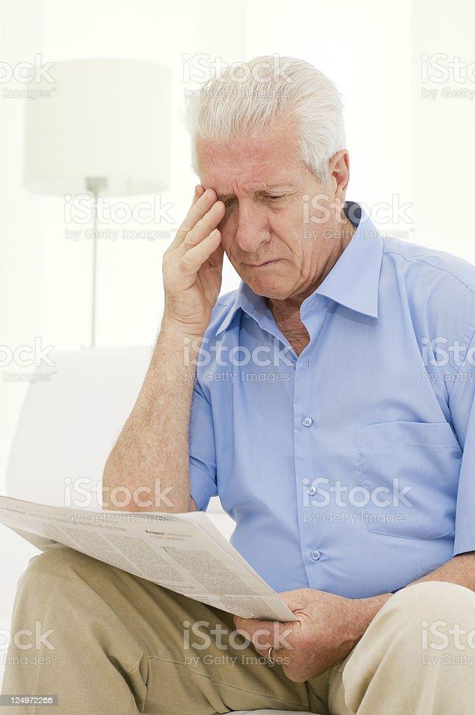 Eyesight problems stock photo
