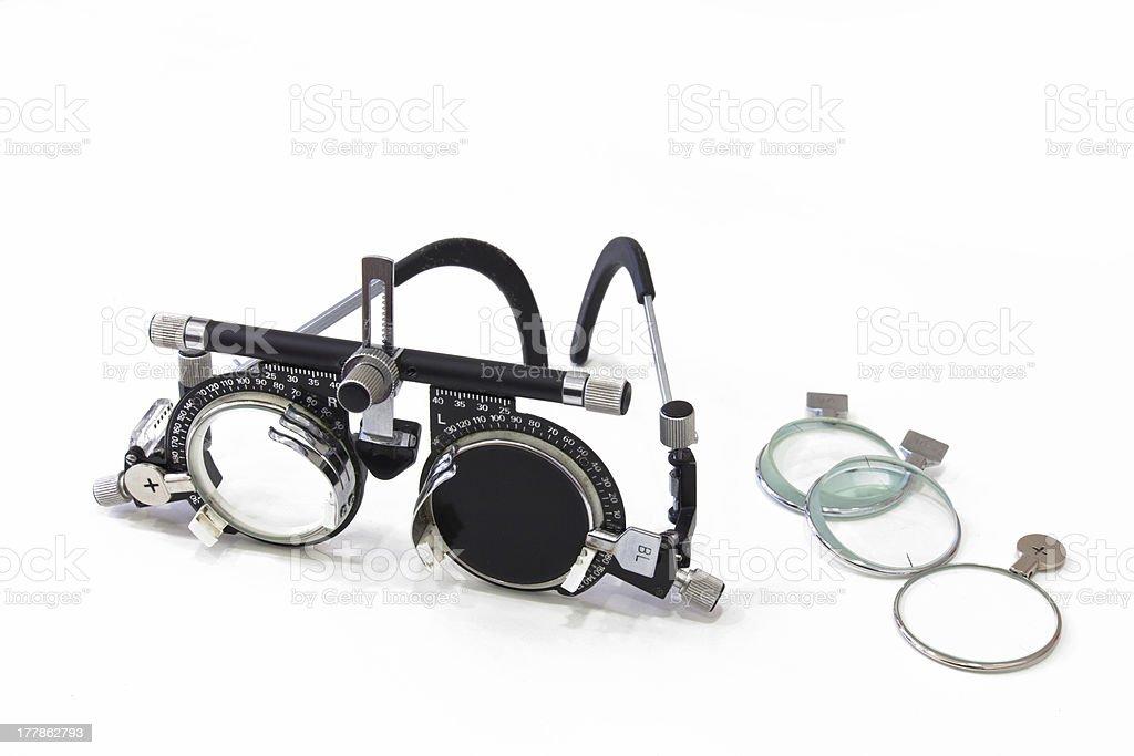 Eyesight Testing Spectacles royalty-free stock photo