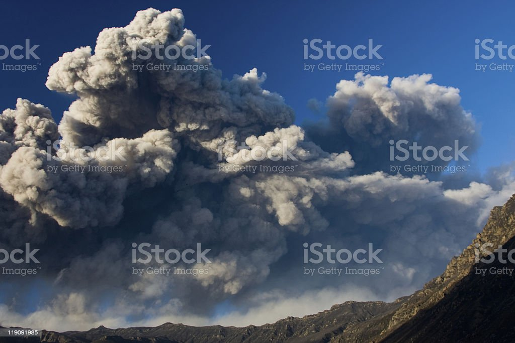 Eyjafjallajokull eruption royalty-free stock photo