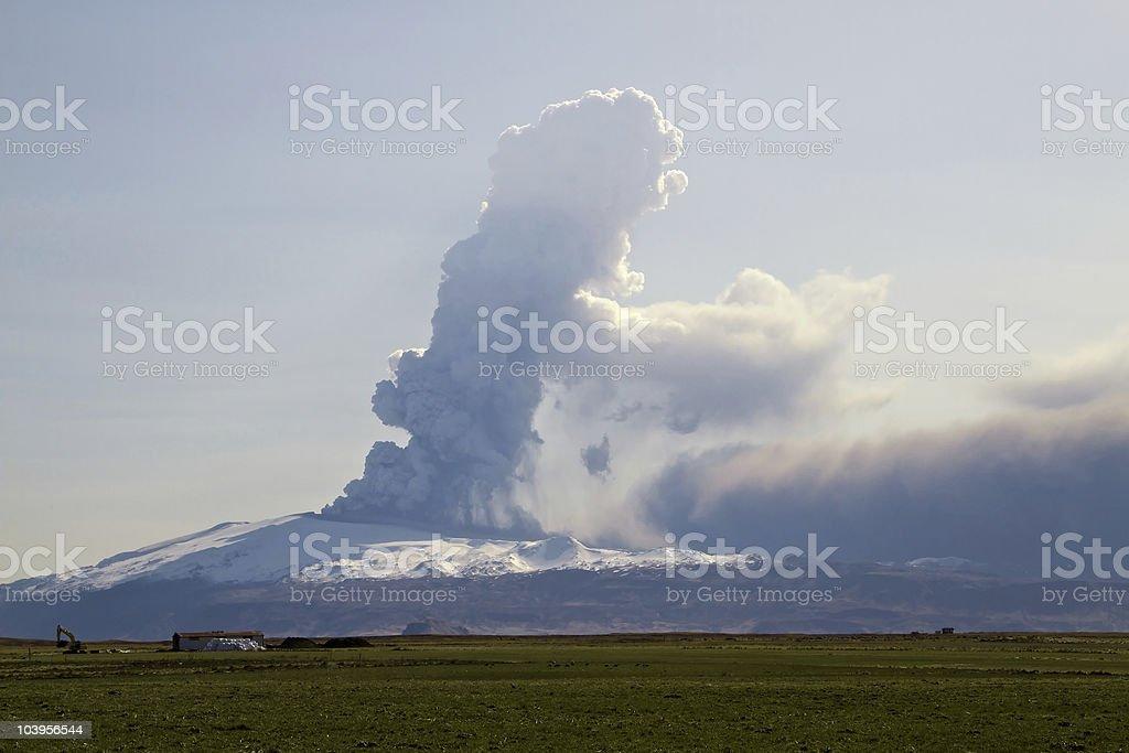Eyjafjallajokull volcano royalty-free stock photo