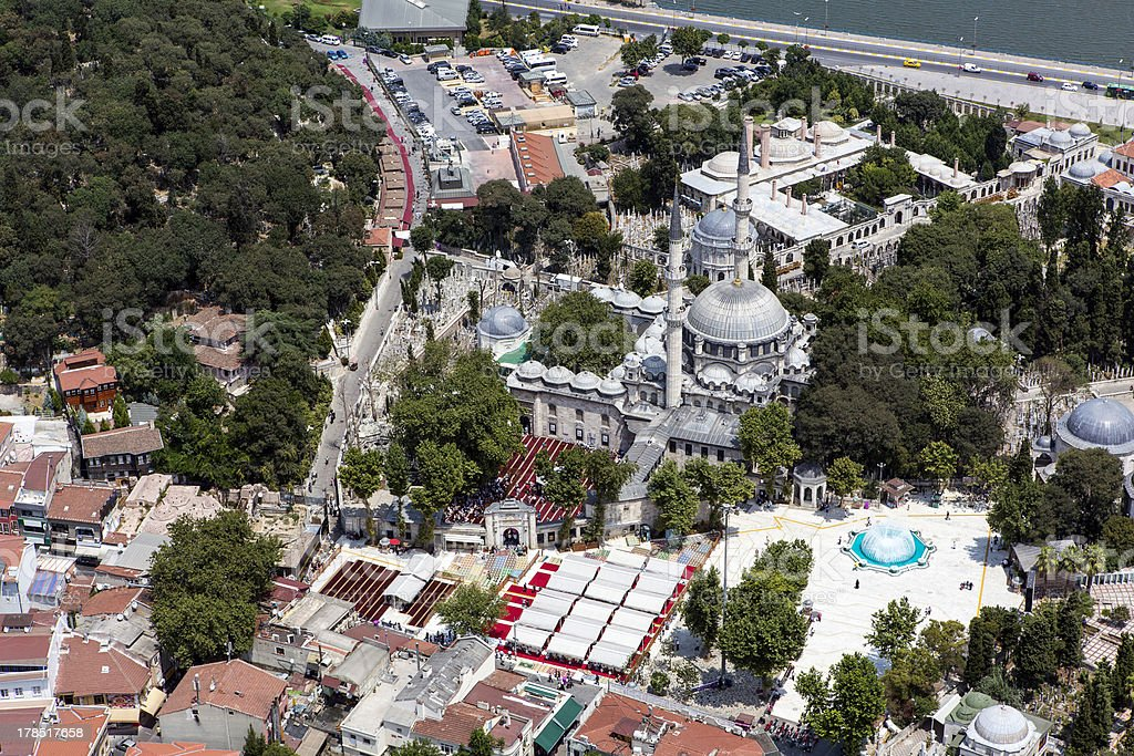 Eyup Sultan Mosque stock photo