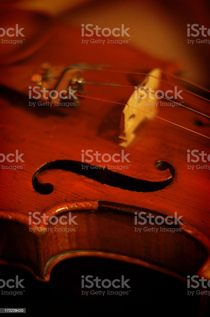 f on violin royalty-free stock photo