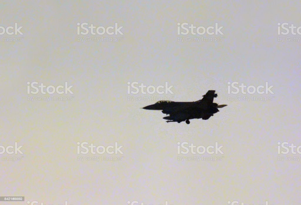 f-16 airplane stock photo