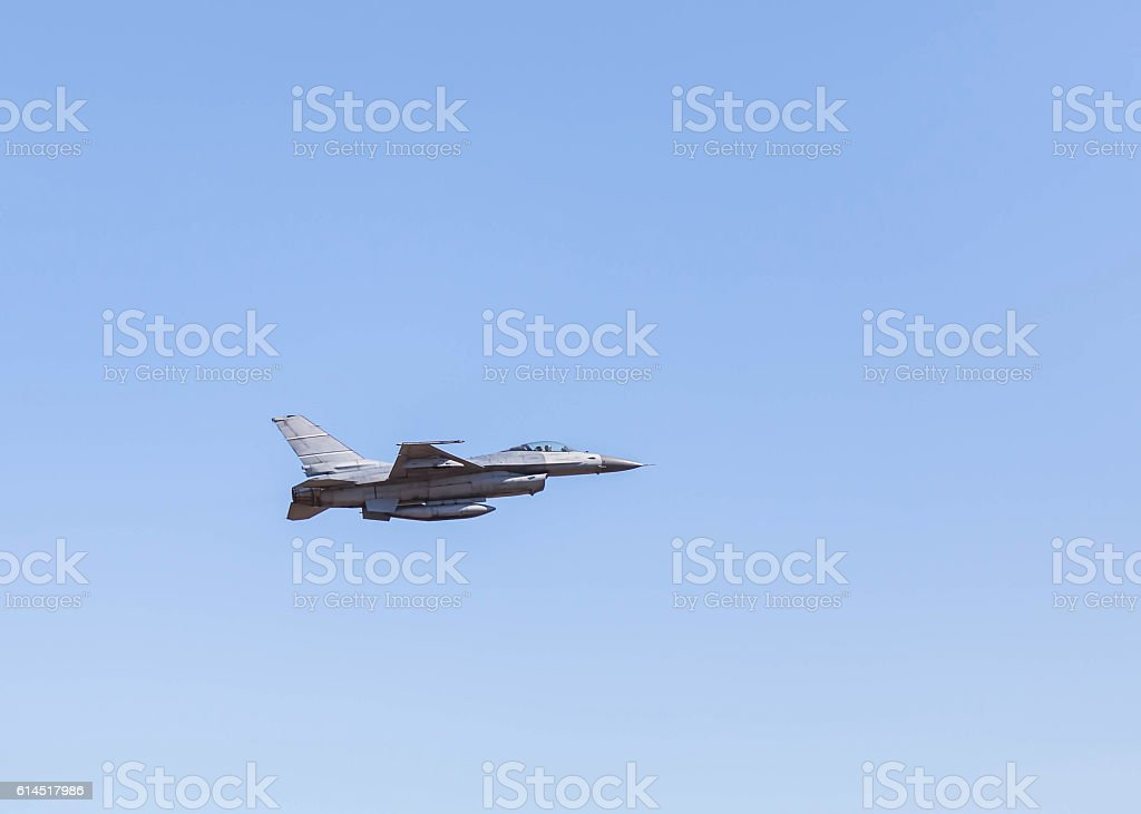 f16 falcon fighter jet military aircraft flying stock photo