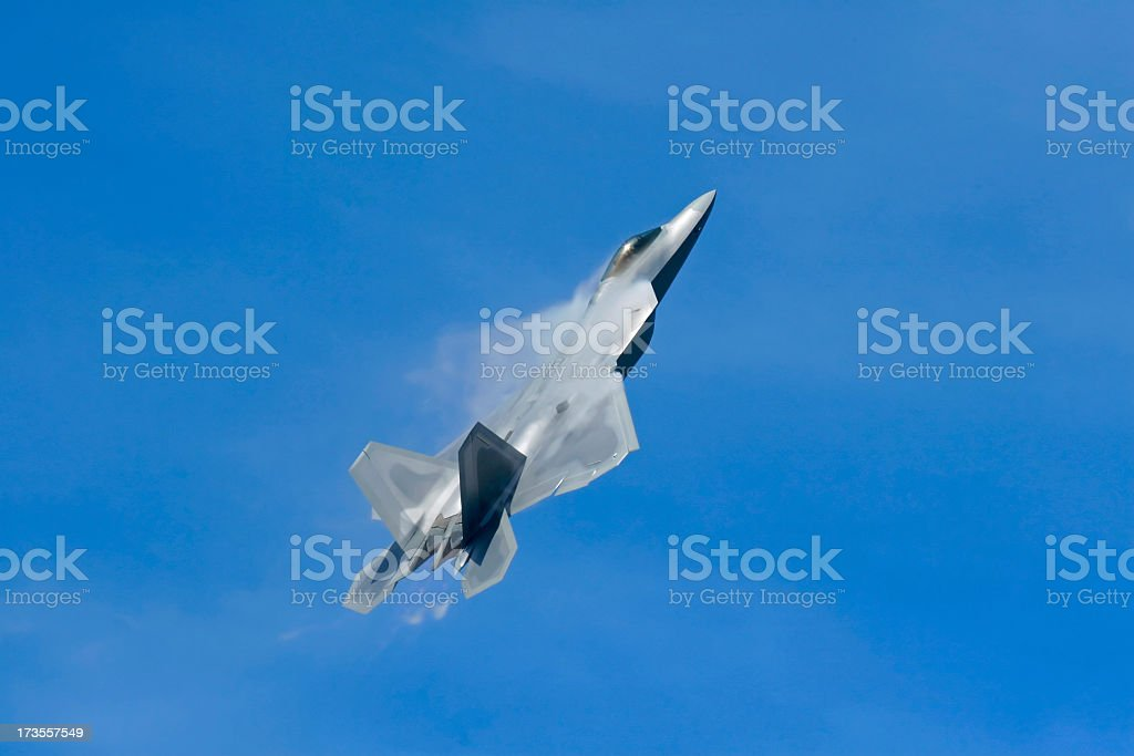 F-22a Raptor with vapors stock photo