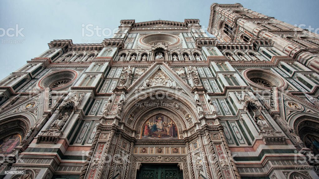 Façade of Florence cathedral stock photo