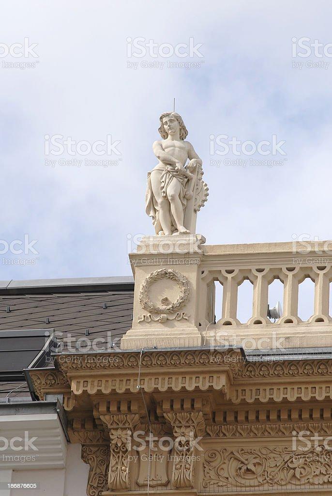 Façade sculpture, Graben street royalty-free stock photo