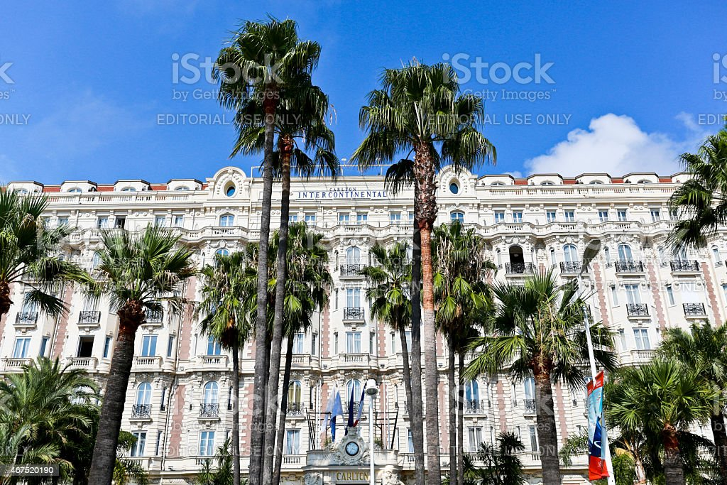 Fa?ade with the Windows and Balconies of the Carlton Hotel stock photo