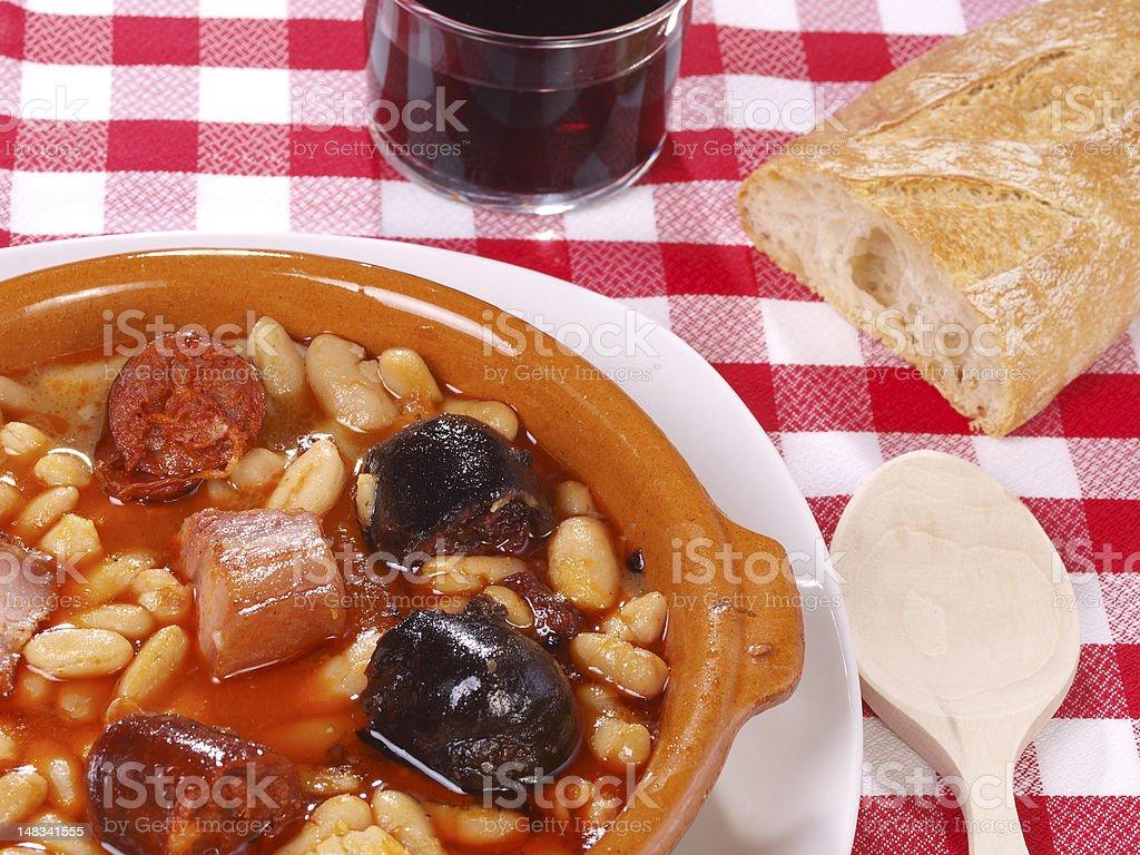 Fabada Asturiana royalty-free stock photo