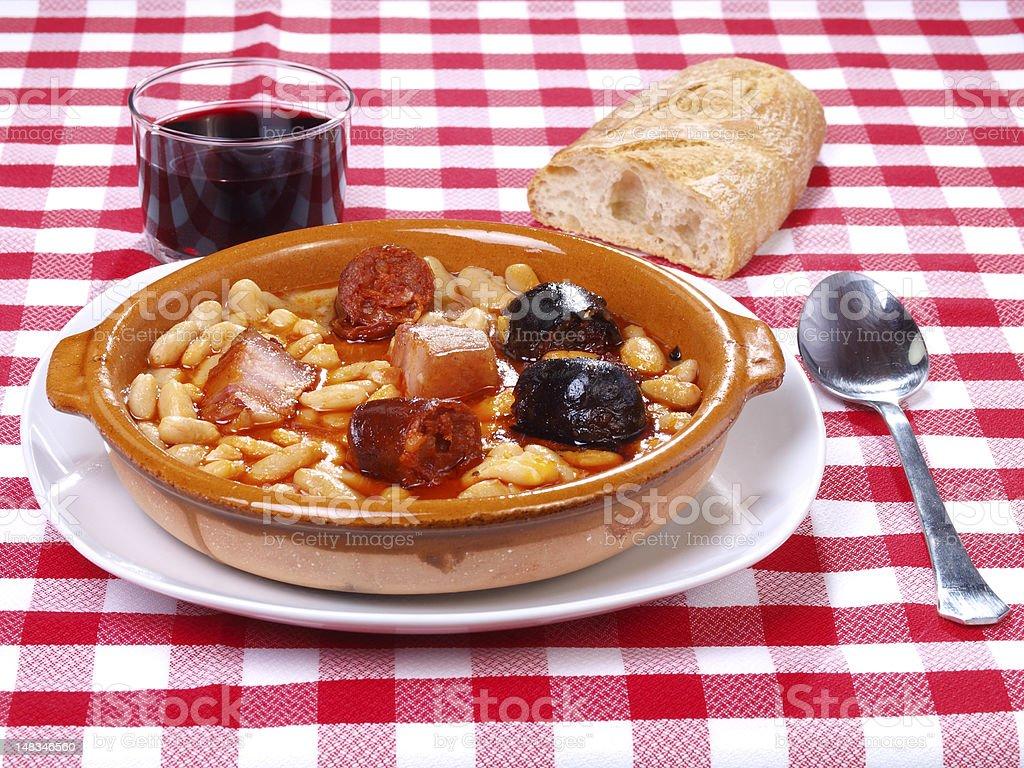 Fabada Asturiana stock photo