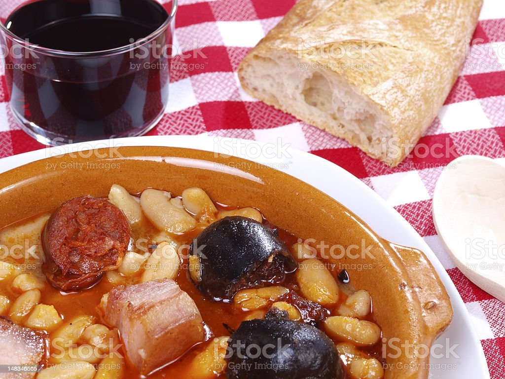Fabada Asturiana royalty-free stock photo