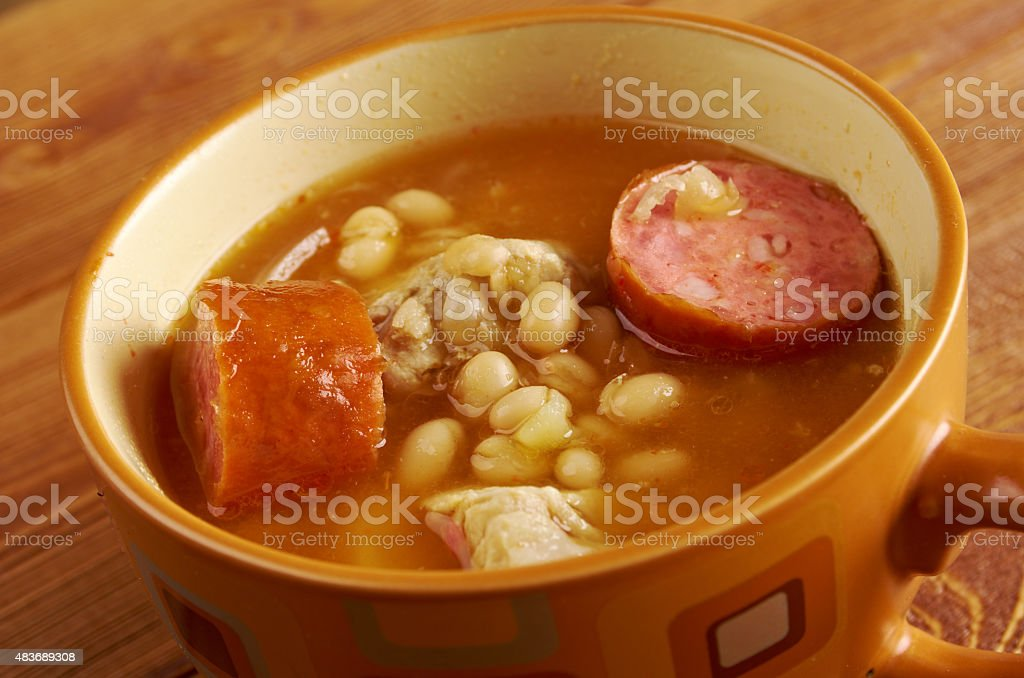 Fabada asturiana, stock photo