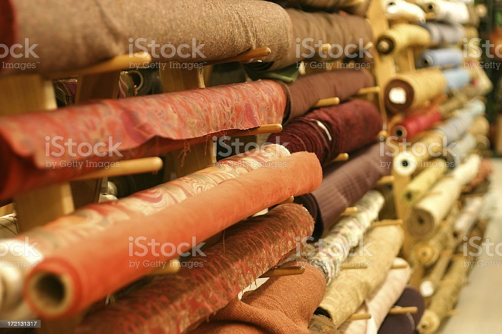Fabric Aisle 2 stock photo