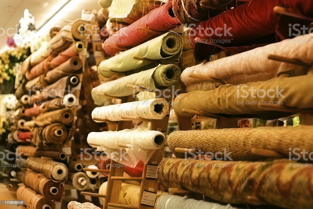 Fabric Aisle royalty-free stock photo
