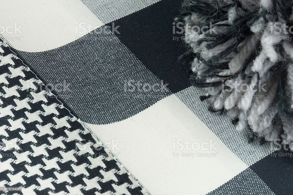 Fabric and rug swatch royalty-free stock photo