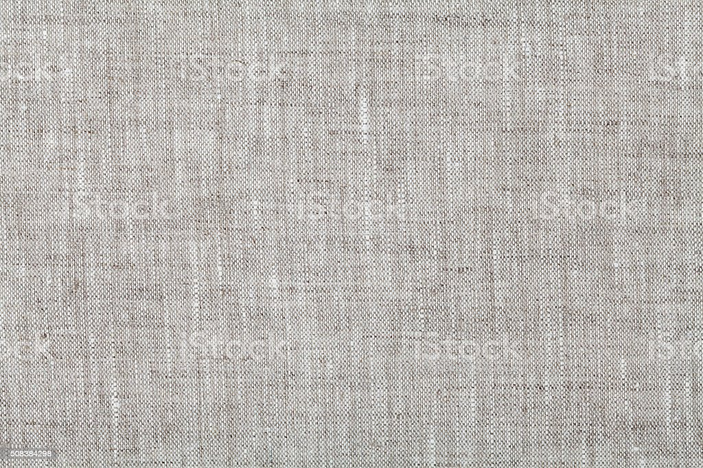 Fabric background in neutral grey color, linen texture stock photo