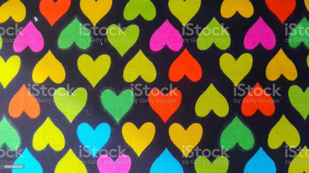 fabric background with hearts stock photo
