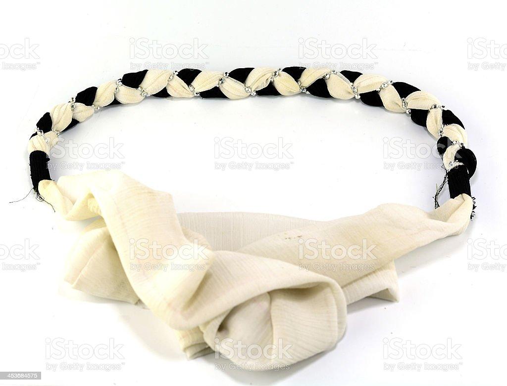 Fabric belt for dress fashion stock photo