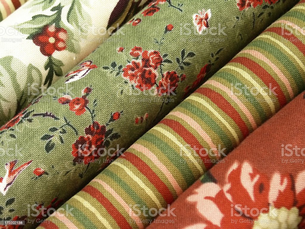 Fabric - Bolts royalty-free stock photo